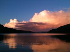 Donner Lake, Truckee, California storm clouds