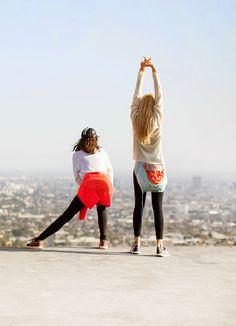 Let's Take a Walk / Drake Burnette, Djuna Bel, Outdoor Voices, Nike, The Elder Statesman, Live The Process, Hiking, Griffith Park, Los Angeles / Garance Doré