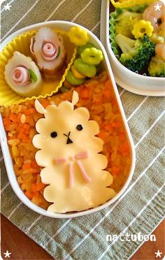 Alpaca cheese Bento