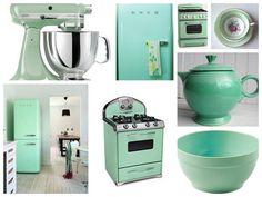Mutfakta da Mint Yeşili - Mint Yeşili Mutfak Eşyaları