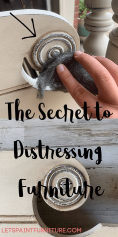The secret to distressing furniture! Read what the Pro's aren't telling you! This simple tool will create a beautiful finish and save you time!