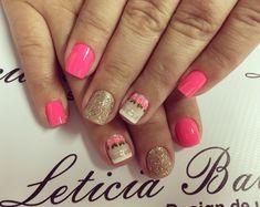 @Leticia Balsi Unhas Cute Nails, My Nails, Nail Designs, Hair Beauty, Vogue, Nail Art, Makeup, Ideas, Nail Hacks