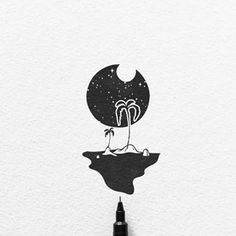 Ink Illustrations with a Meaning. Click the image, for more art by Mandy Razik. Cool Art Drawings, Pencil Art Drawings, Doodle Drawings, Art Drawings Sketches, Doodle Art, Easy Drawings, Tattoo Drawings, Drawing Ideas, Doodle Sketch