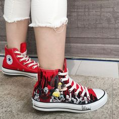 11 Best The Walking Dead Converse Painted Shoes images