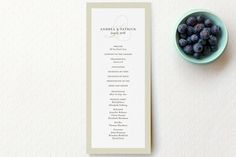 Initial Script Wedding Programs by annie clark at minted.com