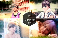 Check out 12 Premium Light Leak Presets V2 by symufa1 on Creative Market