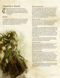 DnD plant elf class - DnD Homebrew — Sprouting Chaos Player's Companion Races: Awakened. Dungeons And Dragons Races, Dungeons And Dragons Classes, Dungeons And Dragons Characters, Dungeons And Dragons Homebrew, Dnd Characters, Mythological Creatures, Fantasy Creatures, Mythical Creatures, Fantasy Races