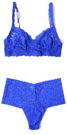 Hanky Panky Sapphire Retro Lace Bralette & Retro Thong