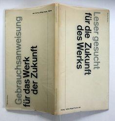 markus kutter: gebrauchsanweisung / leser gesucht  arthur niggli, teufen, 1959 printer: brin + tanner a.g., basel size: 27 x 15 cm designer: karl gerstner