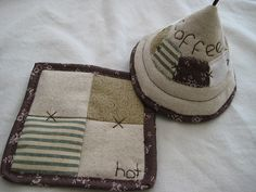 quilted coffee coaster & top