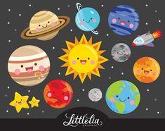 Sistema solar kawaii imágenes prediseñadas imágenes