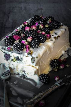 Blackberry, Pistachio And Rose Semifreddo
