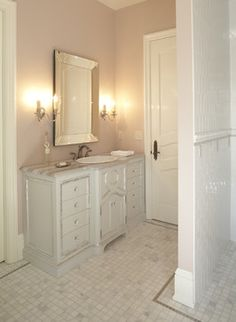 Master Bathroom Of French Chateau Style Hendel Home