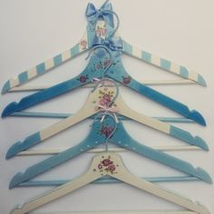 Blue handmade hangers