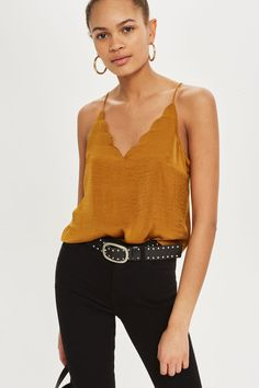 Satin Scallop Cami Top - Share The Love - We Love - Topshop USA