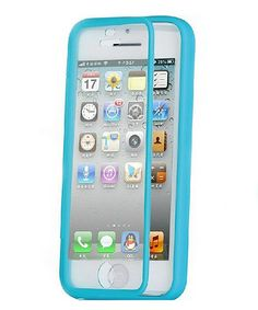 Loving this Blue Wrap-Up Screen Protector Case for iPhone 5c on #zulily! #zulilyfinds