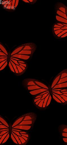 Download Free HD  iPhone Wallpaper With Red Butterflies.