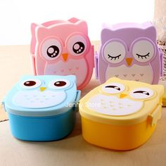 2.49$ (Buy here: http://alipromo.com/redirect/product/olggsvsyvirrjo72hvdqvl2ak2td7iz7/32583748507/en ) food container Owl Portable Bento Lunch Box Plastic Cute Cartoon Food Fruit Storage Container for just 2.49$