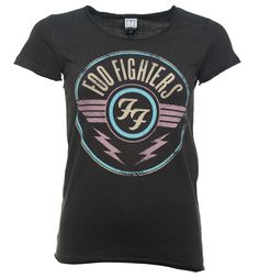#Amplified Womens Charcoal Foo Fighters FF Air Logo #Founded by Nirvana drummer Dave Grohl back in 1994, the Foo Fighters quickly rocketed to the top of charts, known for their alternative rocky sound. Over the course of the bands career, four of their albums have won Grammys for best rock album, and they have sold 30 million albums worldwide. Rock out in style with the help of this Air Logo Amplified tee.