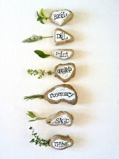 Herb garden marker Etsy/fizzfinds