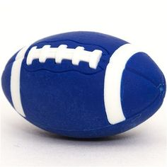 "cool blue eraser American Football by Iwako. $1.39. by Iwako, Import from Japan. funny eraser - also for sport grouchs. very good quality, super cute design. perfect for your collection, as a present, for school, kindergarten or office. size: 3.1cm (1.2""). funny Japanese eraser by Iwako in the shape of an American Football"