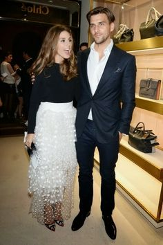 Olivia Palermo and Johannes Huebl at Chloe Attitudes' Book Launch in Paris