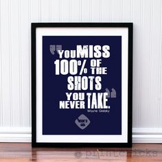 Hockey Poster Hockey Quote Print Hockey NHL by PrintChicks