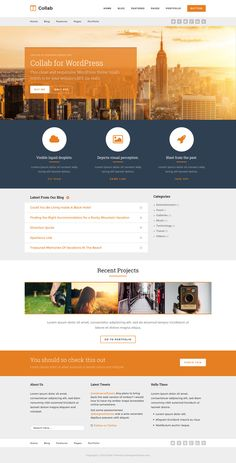 Collab from ThemeForest - a beautiful wordpress theme.
