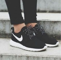 I need some regular black sneakers. Definitely need them to be all black, though and simple to just wear with any outfit. Don't need name brand. And they have to be comfy