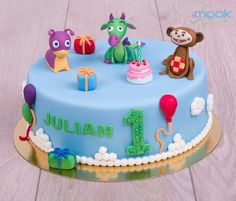 Baby tv cake Tv Themes, Party Themes, Baby Tv Cake, Baby Cartoon, Happy Birthday, Birthday Cakes, Cakes And More, Rainbow Colors, Fondant