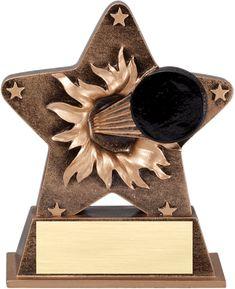 Hockey Star Burst Resin Trophy