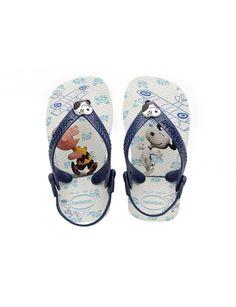 Havaianas Baby Snoopy slipper - blauw / combi vind je bij Emmen schoenen de (online) winkel voor mooie schoenen
