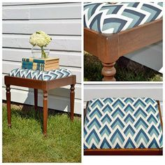 """""""This sweet little bench is heading with me to The Barn's Fall Flea and Fair, as well! If you haven't checked out The Barn (https://www.facebook.com/theyoderbarn/) yet, please do! It is an amazing event filled with talented vendors in Iowa that will take place 9/16 and 9/17!! The bench was refinished using General Finishes Antique Walnut Gel Stain and finished with GF's wipe-on satin poly for an antiqued patina."""" - Vintage Amour"""