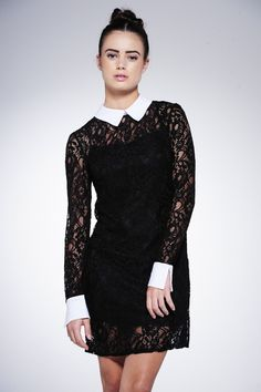 Erin Collared Lace Dress £25