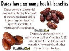 Health Benefits of Dates. *courtesy of Positive Med. #dates #healthyisalifestyle #holisticheights