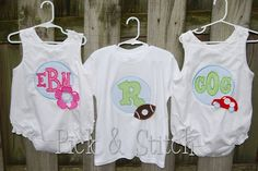 Applique Charm Girl Set Applique Embriodery by pickandstitch, $15.00