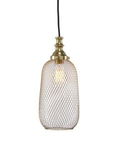 Lipton Pendant from Wildwood Lamps & Accents Inc., made of mesh in an antique brass finish.