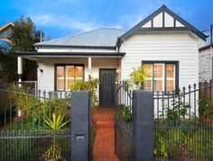 Photo of a weatherboard house exterior from real Australian home - House Facade photo. Like the look of the shutters Exterior Color Schemes, Exterior Paint Colors For House, Paint Colors For Home, Paint Colours, Colour Schemes, Modern Exterior, Exterior Design, Bungalow Exterior, Traditional Shutters