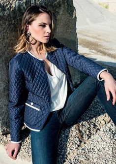 What do you think about our quilted down jacket? A classic pattern, always fashion and characterized by grosgrain pipings and rhombus quilt!  #jacket #eiderdowns #downjacket #women #girl #newcollection #spring #summer #fashion #fashionstyle  #italianstyle #fashionwoman #cool #clothes #jackets #musthave #pinterest #followus