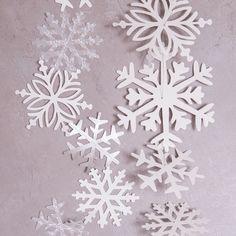 Zarte Schneeflöckchen tanzen durch's ZImmer - Winterdekoration vom Feinsten Schneekristallgirlande