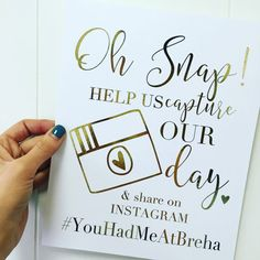 Real Gold foil share the love hashtag sign// wedding print// oh snap sign// wedding hashtag print Ikea Wedding, Wedding Prep, Diy Wedding, Wedding Planning, Wedding Ideas, Wedding Hashtag Sign, Wedding Signs, Wedding Captions For Instagram, Wedding Dress Preservation