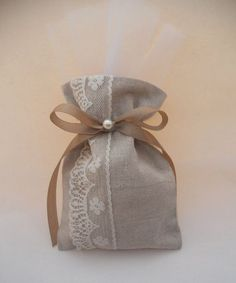 Items similar to Wedding bombonieres, wedding favors on Etsy Lavender Bags, Lavender Sachets, Wedding Favor Bags, Diy Wedding Favors, Burlap Crafts, Fabric Crafts, Christmas Crafts To Make And Sell, Burlap Gift Bags, Scented Sachets