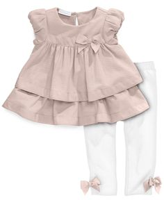 First Impressions Baby Set, Baby Girls 2-Piece Tiered Tunic and Leggings - Kids Baby Girl (0-24 months) - Macy's