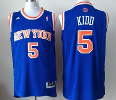 New York Knicks  5 Jason Kidd Royal Blue Hardwood Classic Swingman  Throwback NBA Jerseys Throwback 7bc2510b2