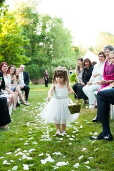 so cute... definitely going to have some little girls throwing petals...