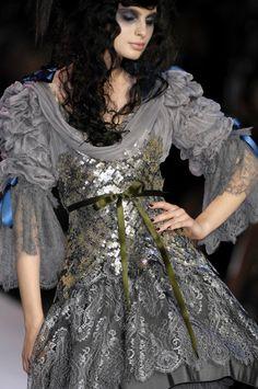 lacroix, ZsaZsa Bellagio World Of Fashion, Fashion History, Fairy Dress, Grey Fashion, High Fashion, Christian Lacroix, Haute Couture Fashion, Fashion Details, Fashion Design