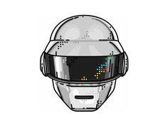 designed by Aleksandar Savic. Connect with them on Dribbble; Daft Punk, Thomas Bangalter, Punk Tattoo, Create Icon, Space Music, Logo Face, Punk Art, Electronic Music, Good Music