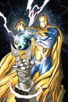 Dr Fate by Chad Hardin Dc Comics Heroes, Dc Comics Characters, Dc Comics Art, Marvel Dc Comics, Anime Comics, Dr Destino, Kent Nelson, Dc Doctor, Dr Fate