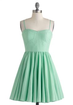 Women's Fashion Clothing Dessert Before Dinner Dress in Mint Green