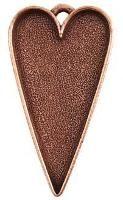 Nunn Design copper plated heart bezel pendant for resin jewelry $6.99